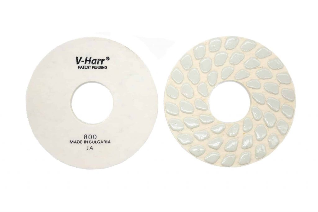 "9"" 800 v harr felt backed polishing pad"